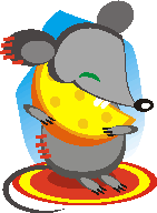 mouse with cheese applique