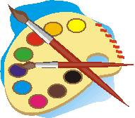 paint pallette applique