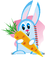 rabbit with carrot applique