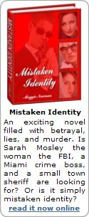 Mistaken Identity novel ad