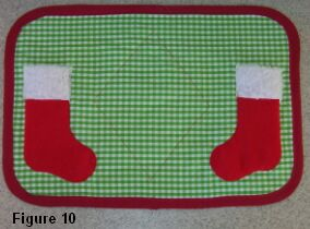 Christmas stocking placemat figure 10