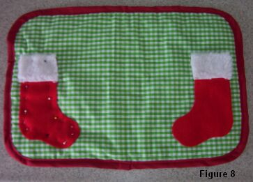 Christmas stocking placemat figure 8
