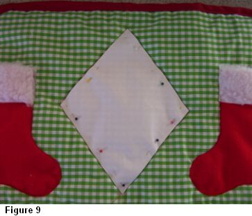 Christmas stocking placemat figure 9