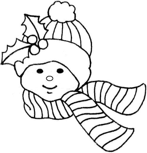 kid with snow cap