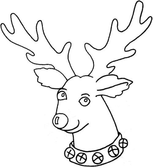 Reindeer Head Template Reindeer head