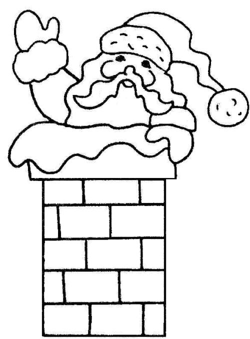 free black and white santa clipart - photo #39