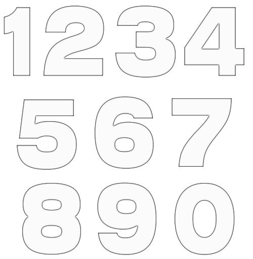 numbers clipart image 1