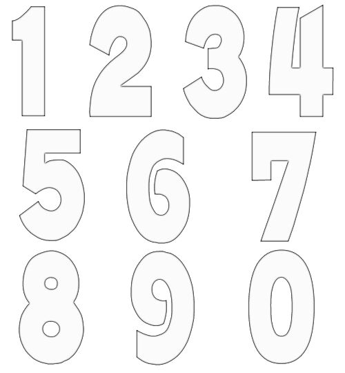Free numbers clipart free craft project clipart for Free number templates to print