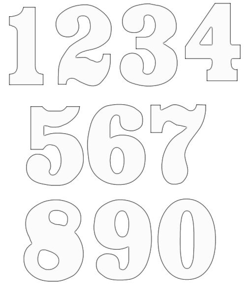 Free numbers templates for Template for numbers 1 100