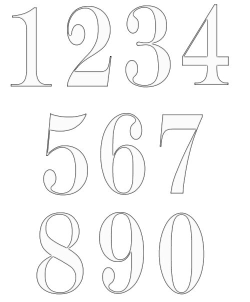 Free Numbers Clipart – Numbers Templates Free