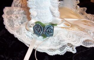 basket ring bearer pillow roses