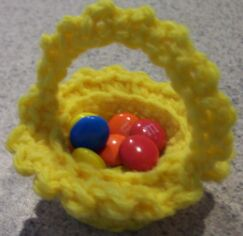 miniature crochet basket