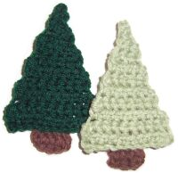 Christmas Tree made with Crocodile Stitch - Crochet Me