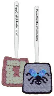 crochet fly swatter covers