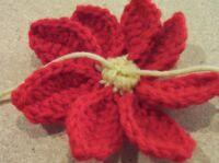 Christmas pointsettia flower center 3