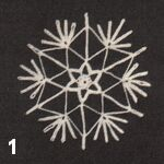 make a crochet snowflake 1