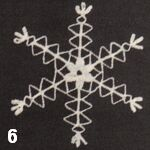 make a crochet snowflake 6