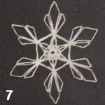 make a crochet snowflake 7