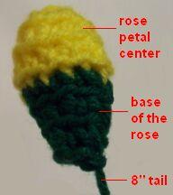 yellow crochet rose image 3