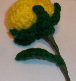yellow crochet rose wrap image 2