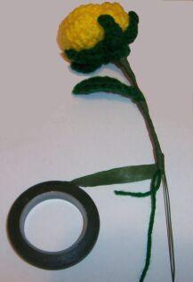 yellow crochet rose wrap