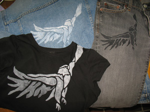 eagle stencil clothing