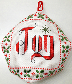 biscornu cross stitch christmas ornament - Cross Stitch Christmas Decorations