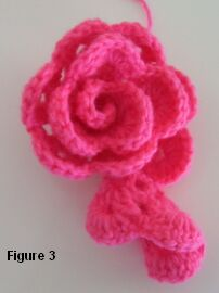 crochet sweetheart pillow rose shaping top