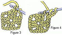 crochet granny motif figure 3-4