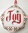 biscornu cross stitch Christmas ornament