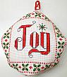 biscornu cross stitch Christmas ornament