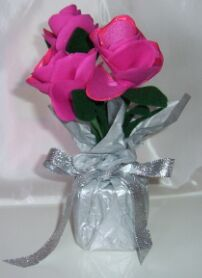 fabric roses party favors