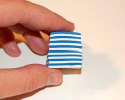 Fourth of July clay bracelet image 7