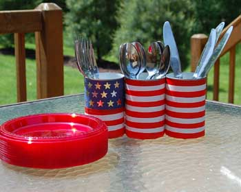 Fourth of July silverware holder image 1