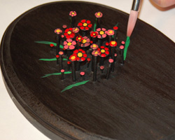 nail art flower bouquet image 11