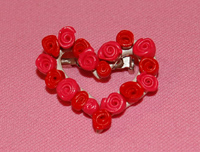 clay rose wreath pin image 1