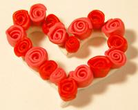 clay rose wreath pin image 8