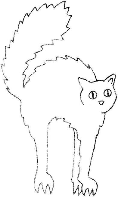 Free Halloween Cat Template 1