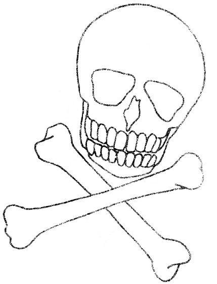 free halloween skull template