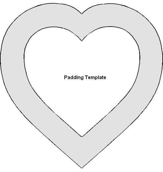 printable heart templates .