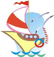 elephant sailing applique