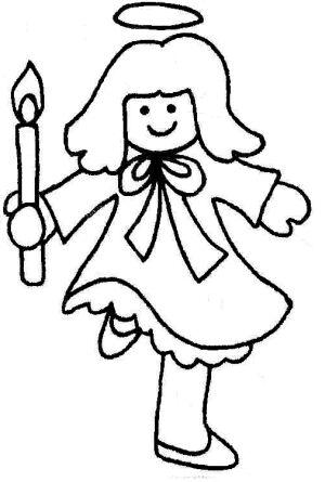 girl angel with candle