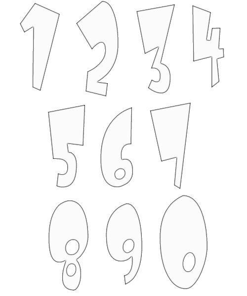 numbers clipart image 3