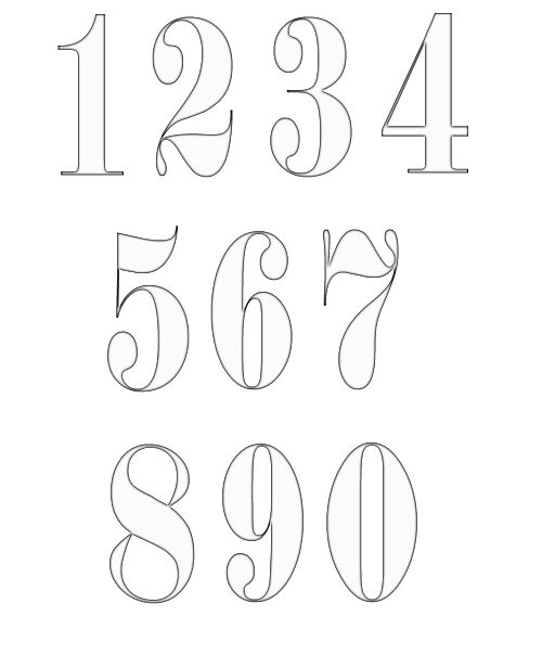 numbers clipart image 9