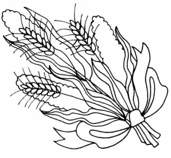large wheat bouquet