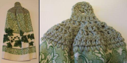 buttonless crochet top kitchen towel