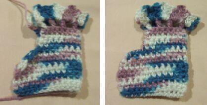 crochet baby booties image 2