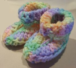 crochet baby booties alternative