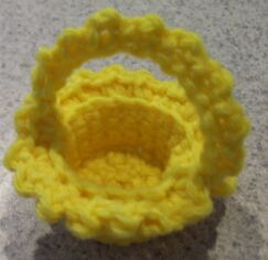 miniature crochet basket image 1