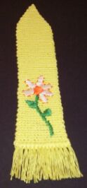embroidered crochet bookmark